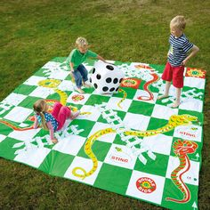 Giant Snakes & Ladders- a traditional board game with a difference. It'a giant and you get inside and play!