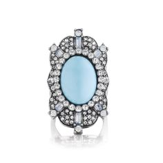 chloe + isabel Shoreside Vintage Cocktail Ring-$48 Featuring a turquoise resin cabochon, surrounded by opalscent tones