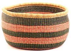 """Ghana Bolga Baskets - No Handle Market 15.5"""" Across30427"""