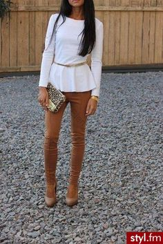 Great outfit! I would pair with white heels though..