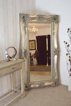 """This is one of our most detailed and extravagantly designed frames, if you are looking for a mirror to really stand out and be the focal point of your room this is the item for you . It has an exquisite 8"""" frame that boast style and elegance. The glass itself measures 5ft x 2ft ( 152cm x 61cm) and has a premium bevelled edge, This mirror has an overall size of 6ft5 x 3ft5 (197cm x 105cm) http://ow.ly/K5RuT"""