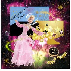 Barbie dresses for space, created by kathy-martenson-sanko.polyvore.com