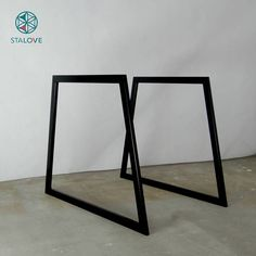 Steel Dining Table Legs / Bench legs (set of Metal Kitchen Table Legs. Trapezoid metal legs for dining table Ashley Furniture Sofas, Porch Furniture, Steel Furniture, Furniture Legs, Furniture Makeover, Furniture Storage, Cheap Furniture, Office Furniture, Furniture Design