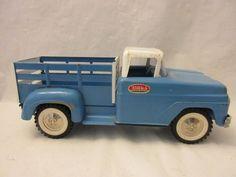 Vintage Tonka White and Blue Van Truck Toy