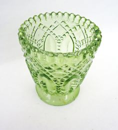 Vintage  Depression Glassware Small Vase by thesecretcupboard