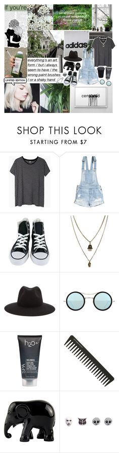 """I never meant to cause you trouble..."" by haylekayle ❤ liked on Polyvore featuring xO Design, KEEP ME, R13, H&M, Converse, Jamie Jewellery, rag & bone, Kyme, H2O+ and GHD"