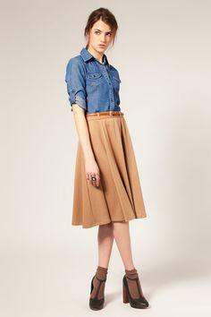 Ribbed Bodycon Midi Skirt Khaki - Skirts - Missguided | skirts ...