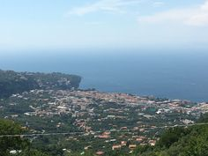 Sorrento Coast from hills . For Private Day Tour visit enjoysorrentolimo.com
