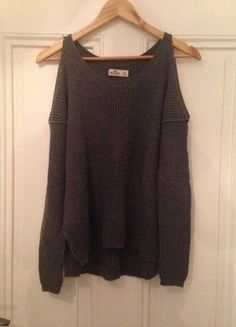 Hollister Pullover Grau mit Cut-Outs
