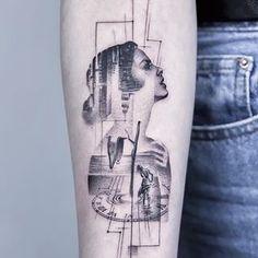 """Memória do tempo ""✨ ""A memory of time"" - Obrigado, Pábula. - (October : Hamburg) _ #dali #time #life Half Sleeve Tattoos Drawings, Half Sleeve Tattoos For Guys, Best Sleeve Tattoos, Geometric Tattoos Men, Geometric Sleeve Tattoo, Line Work Tattoo, Fine Line Tattoos, Cool Forearm Tattoos, Body Art Tattoos"