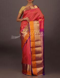 Ragini Ornate Full Length Molten Border Wedding #DharmavaramSilkSaree
