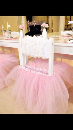 Add a tutu to a chair to make for the princess
