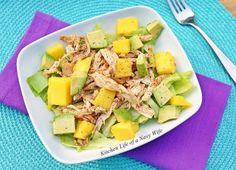 Mango Avocado Spiced Chicken Salad
