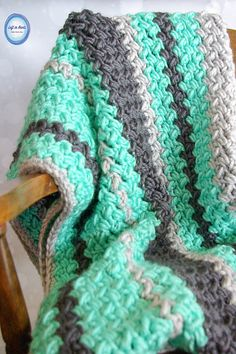 Crochet Pattern: Quick And Easy Baby Bean Stitch Baby Blanket