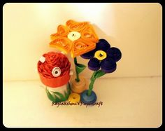 Flowers made by quilling