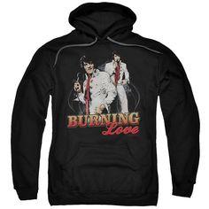 Elvis/Burning Love Adult Pull-Over Hoodie in