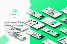Paragon - Creative Minimal Template by Lootart on @creativemarket