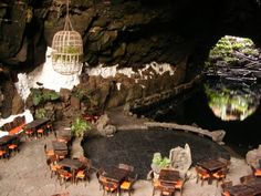 Cave restaurant Lanzarote canary islands