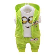 2016 Outono Conjuntos de Roupas Meninos Crianças jaqueta Casaco + T Shirt + Calças 3 Pcs Crianças Ternos Do Esporte Do Bebê Meninas meninos Sequaz Roupas conjunto alishoppbrasil