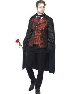 disfraz fantasma Red and Black Dark Opera Masquerade Men Adult Halloween Costume - Medium - 33485102 Masquerade Party Outfit, Masquerade Men, Masquerade Halloween Costumes, Halloween Fancy Dress, Adult Halloween, Halloween Party, Halloween Horror, Maskerade Outfit, Fantasias Halloween