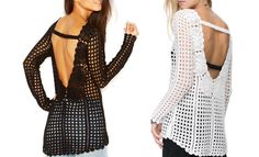Trendy crochet tunic PATTERN detailed TUTORIAL por CONCEPTcreative