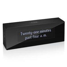 ThinkGeek :: Verbarius Digitless Clock