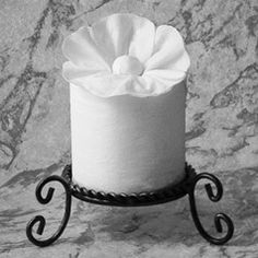 """""""Upsy Daisy""""  instructions in """"Toilet Paper Origami on a Roll: Decorative Folds and Flourishes for Over-the-Top Hospitality"""" by Linda Wright   ♦ http://www.amazon.com/dp/0980092337/"""