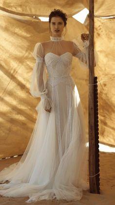 Bardot Wedding Dress, Wedding Dress Bolero, 2nd Wedding Dresses, Wedding Dress Trends, Wedding Dress Styles, Bridal Dresses, One Shoulder Wedding Dress, Sleeve Wedding Dresses, Wedding Attire