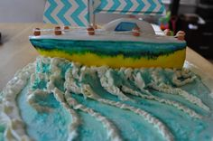 Sailing boat cake made for my sisters going away party