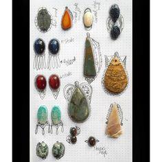 @moondialgypsy Workin up some new ideas! metalsmith instasmithy silversmith ladysmith riojewelers riojeweler jewelrydesign naturalstones crystals moondialgypsy jewelrybrainstorm