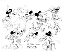 The Band Concert  Craig Clark: More Early Disney Model Sheets #MickeyMouse #Mickey #Mouse