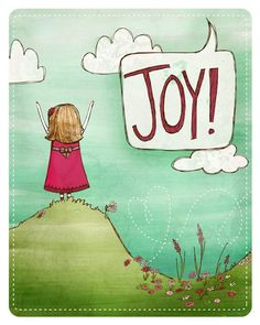 Joy print - God has continually called me live in joy so this print would be a good reminder. :)