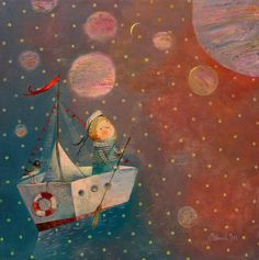:: Sweet Illustrated Storytime ::  Illustration by Anna Silivonchik :: Spacecraft