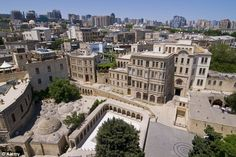 Old City Baku, Azerbaijan. View from the Maiden Tower