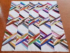 Size: x No Binding Foundation pieced by machine Scrappy Quilt Patterns, Scrappy Quilts, Easy Quilts, Patch Quilt, Quilt Blocks, Quilting Projects, Quilting Designs, Crumb Quilt, String Quilts