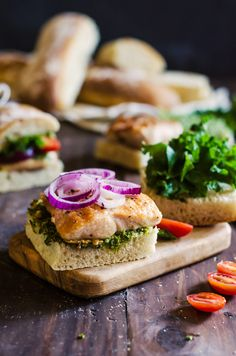 You are going to fall in love with these chicken and pesto sandwiches! They are so easy to make, but packed with flavor. Plus a recipe for the best pesto!