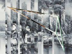 Original Geometric Painting by Baldvin Ringsted Original Art, Original Paintings, Geometric Painting, Enamel Paint, Conceptual Art, Art Oil, Surrealism, Buy Art, Saatchi Art