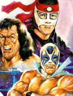 90's Lucha Libre - Octagon, Perro Aguayo, Atlantis.