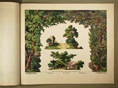 Neue Decorationen für Kindertheater. Wald. Coulissen. Nr. 501 D.