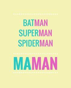 """Tous les super-héros ont un nom qui finit par """"man"""" : Batman, Superman… Spider M, Superman And Spiderman, A Silent Voice, Quote Citation, Some Words, Positive Attitude, Words Quotes, Sayings, Oscar Wilde"""