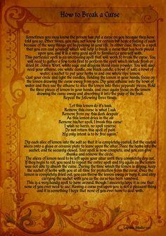 Magick Spells:  How to #Break a #Curse #Spell.