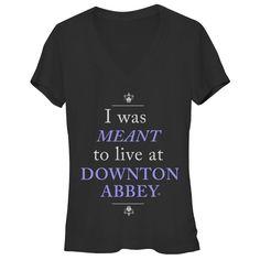 Downton Abbey Junior's - Live at Downton V Neck #downton #downtonabbey #pbs