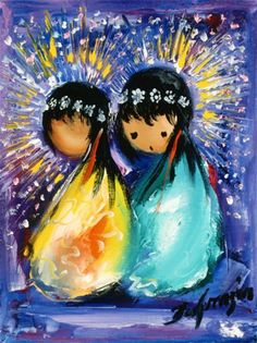 DeGrazia® - Holiday Celebration Crystal Tile. The creation of these beautiful tiles have been inspired by the art of DeGrazia®. There are two sizes of tiles available – 6″ x 8″ and 8″ x 10″.  $27.95