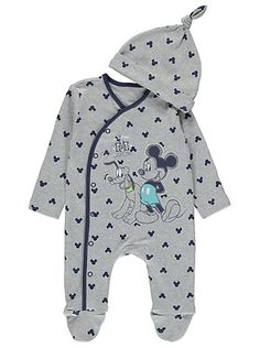 Disney Mickey Mouse Sleepsuit and Hat  893b330223b2