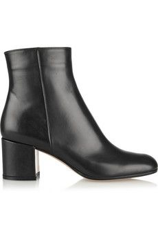 Gianvito Rossi Leather ankle boots | NET-A-PORTER GORGOUS! $940 Why can't  I please win the lottery??