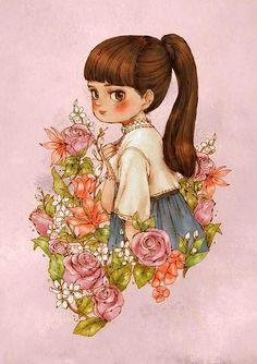 A flower a girl. Aeppol