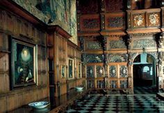 Hatfield House, Hertfordshire, UK, interior, childhood home of Elizabeth I, built by The Bishop of Ely in 1497