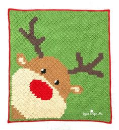 Do you recall? The most famous Reindeer of all?! Yes, it's Rudolph the Red-Nosed Reindeer peeking out of the corner of this cute C2C (corner-to-corner) blanket! I know we only have about a month until Christmas, but this pattern is pretty easy because there aren't a whole lot of complicated color changes. I actually didn't …