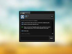 Steam redesign, chat window (2/2) Lorem Ipsum, Told You So, Windows, Grief, Ramen, Window