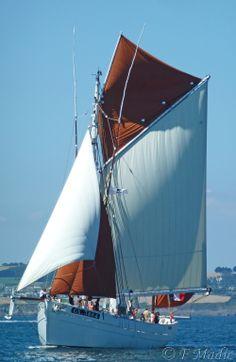 """Naviguer, Pêcher à bord du """"Biche"""" dernier dundée thonier de l'Ile de Groix !"""